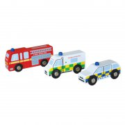 Indigo Jamm - Holzautos Emergency Vehicles / 3er Set