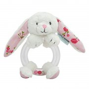 Little Dutch - Rasselring Hase / Pink Blossom