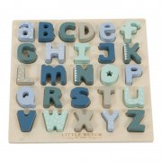 Little Dutch - Holz Puzzle Alphabet / Mint