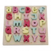 Little Dutch - Holz Puzzle Alphabet / Pink