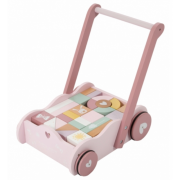Little Dutch - Holz Lauflernwagen Adventure / Pink-Mint