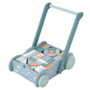 Little Dutch - Holz Lauflernwagen Adventure / Blau-Mint