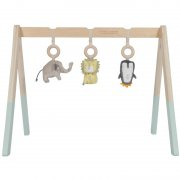 Little Dutch - Holz Baby Gym Spielbogen Zoo / Mint