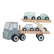 Little Dutch - Holz Autotransporter Adventure / Blau-Mint