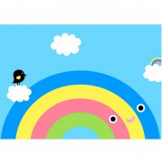Noodoll - Poster Happy Rainbow / A3-Format