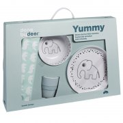 "done by deer - Kinder Geschirr Set ""Yummy"", 4..."