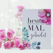 halloBliss - Meilensteinkarten Flower Baby, 38 Karten