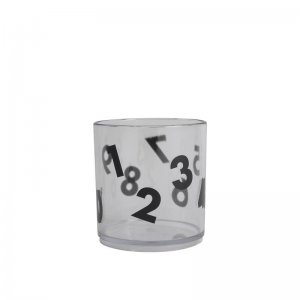 Buddy and Bear - Becher Number, Transparent / Black
