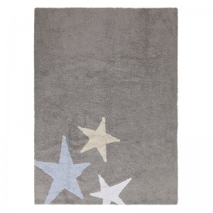Lorena Canals - waschbarer Teppich Three Stars Grey-Blue / 120x160 cm