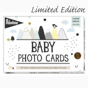 Milestone Cards - The Original BABY CARDS, Schwarz-Weiß / OVER THE MOON - Limited Edition
