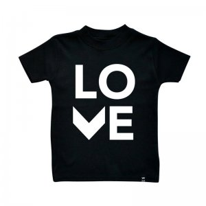 Wild Boys and Girls - Tshirt LOVE / Schwarz